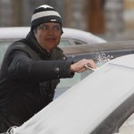 cold maggie cleaning car